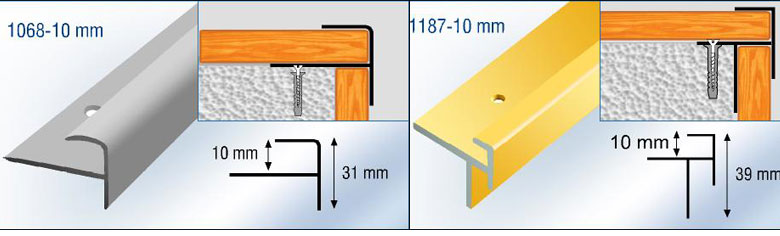 Aluminium Stair Nosing For Laminate Wood Stair Treads