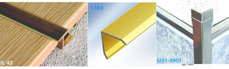 Aluminium Floor Transition Strips Tile Edging Protection