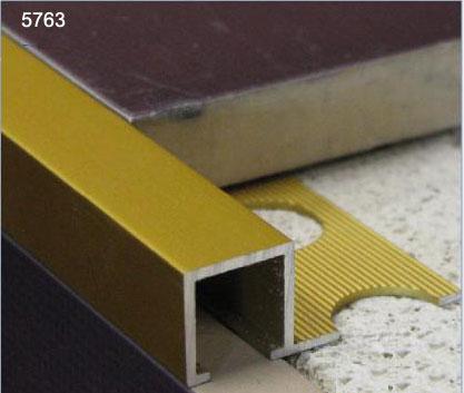Listelo aluminio listelo decorativo perfil cuadrado for Profile de transition carrelage