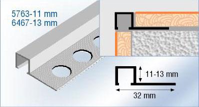 Listel Aluminium Carrelage Listel De Finition Carrelage