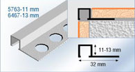 aluminium box tile trim