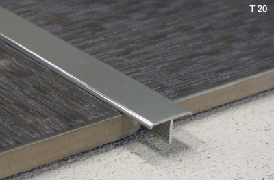 T shaped floor transition strip for Baguette alu carrelage