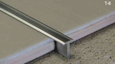 T shaped floor transition strip for Ceramic carrelage
