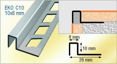listel aluminium carrelage listel de finition carrelage. Black Bedroom Furniture Sets. Home Design Ideas
