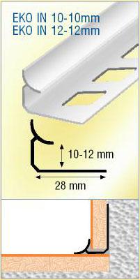 profil d 39 angle rentrant carrelage aluminium. Black Bedroom Furniture Sets. Home Design Ideas