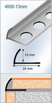 Profil pour carrelage aluminium quart de rond for Angle saillant carrelage