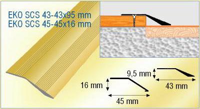 Door threshold cover large size of door flooring for Wood floor joint guard