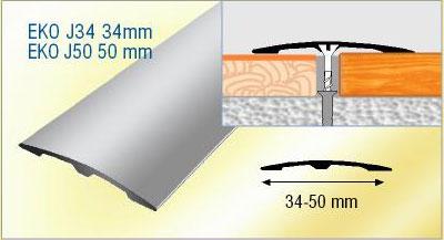 Barre de seuil fixation invisible seuil de porte for Profile de transition carrelage