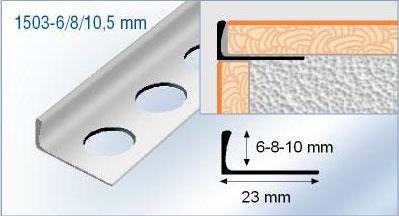 Profil Pour Carrelage Querre Aluminium Chant Droit Carrelage