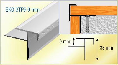 Al 252 Minyum Z Kot Farkı Ge 231 Iş Profili Laminant Merdiven Profili
